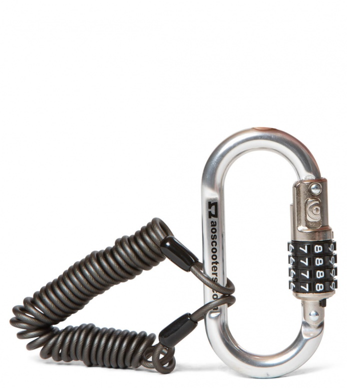AO Scooter Lock Carabiner silver one size