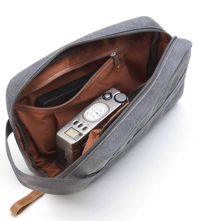 Qwstion Qwstion Washbag Travel Kit washed grey