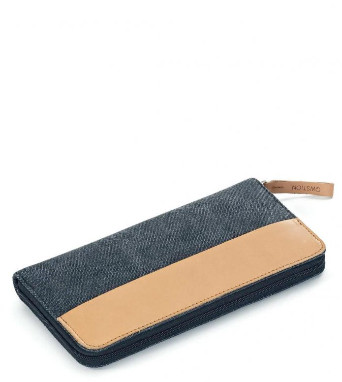 Qwstion Qwstion Wallet Passport washed black