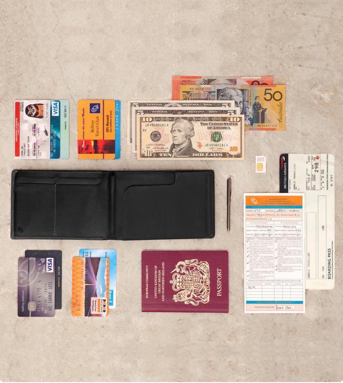 Bellroy Bellroy Wallet Travel RFID black midnight