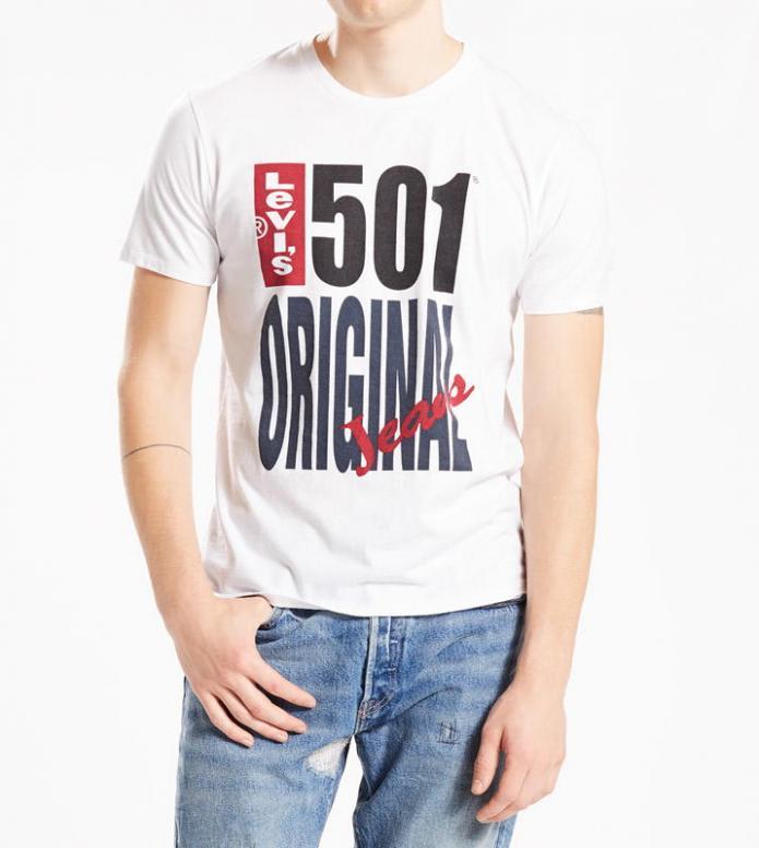 Levis Levis T-Shirt Graphic 501 white original