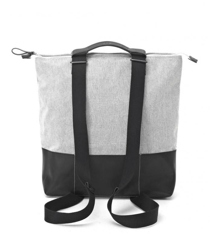 Qwstion Qwstion Bag Simple Zipshopper raw blend leather canvas