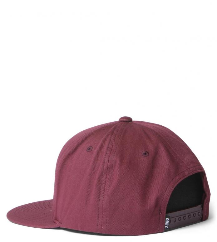 Obey Obey Snap Cap Classic Patch red burgundy