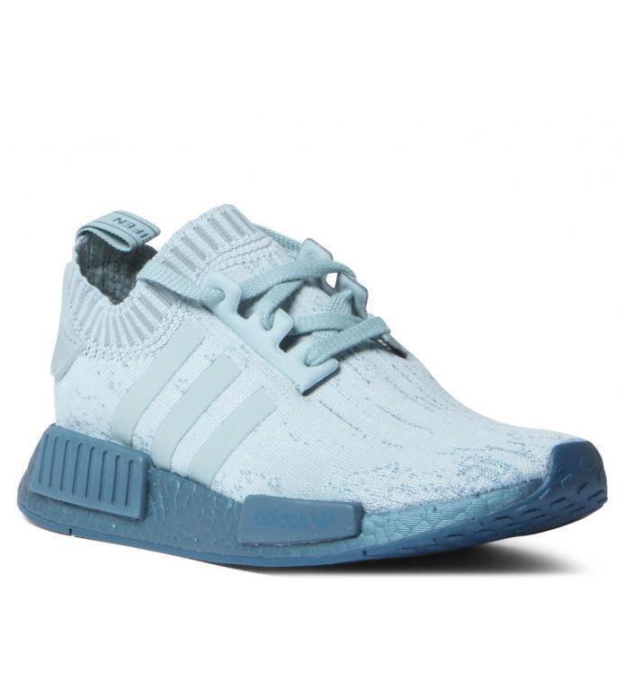 big sale 9b665 22a5d Adidas W Shoes NMD R1 Primeknit blue tectile green/petrol metalic