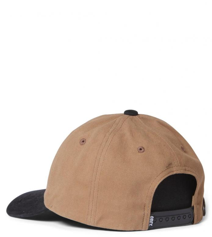 Obey Obey 6 Panel 90s Jumble Bar SB brown bone/black