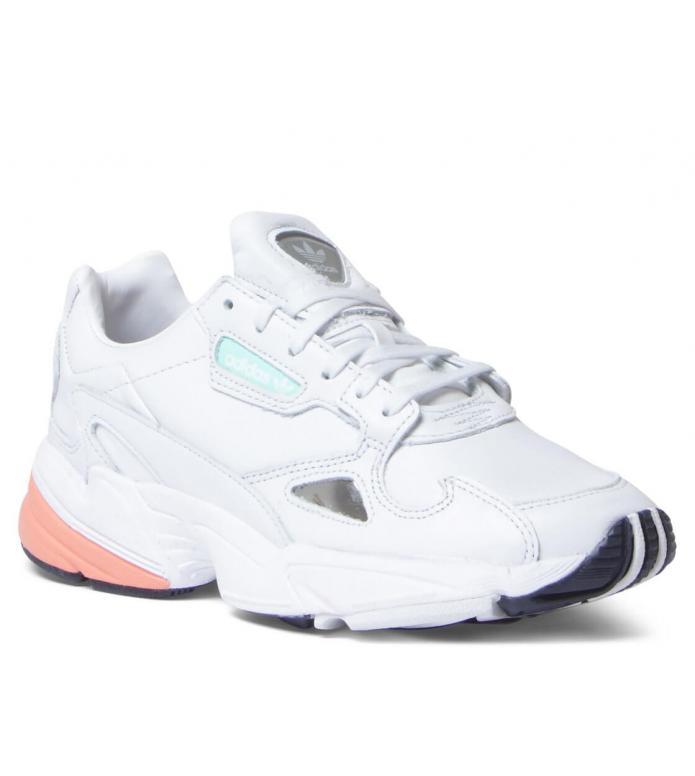 adidas Originals Adidas W Shoes Falcon white crystal/crystal white/easy orange