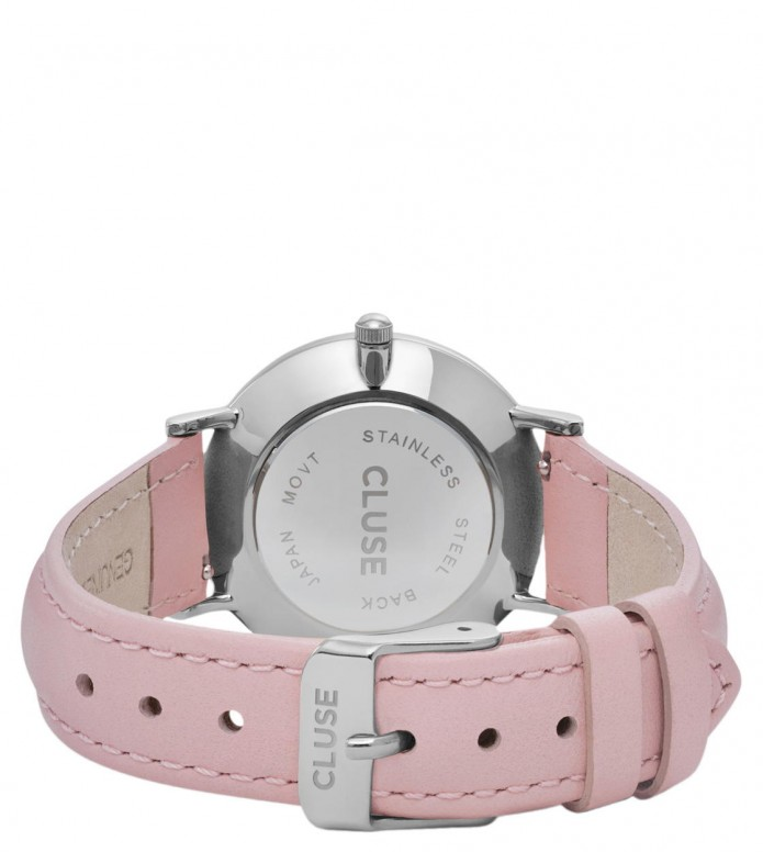 Cluse Cluse Watch Minuit pink/white silver