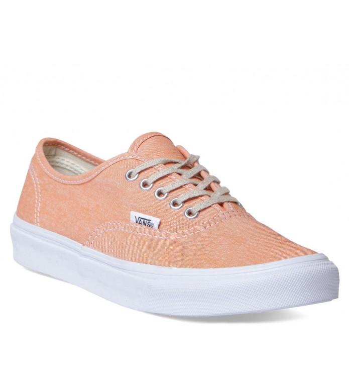 Vans Vans W Shoes Authentic Slim orange coral/true white chambray