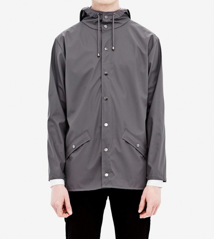 Rains Rains Rainjacket Short grey smoke