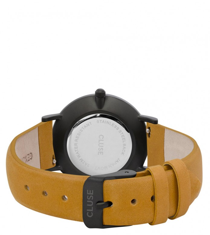 Cluse Cluse Watch Minuit yellow mustard/black full