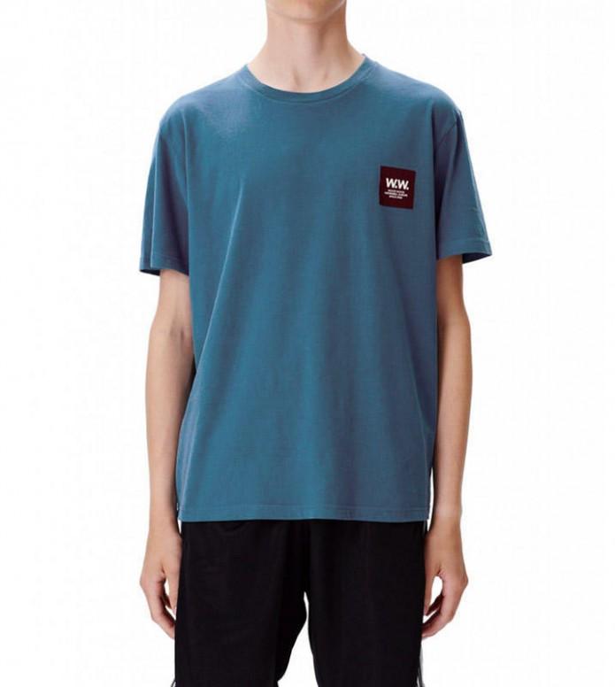 Wood Wood Wood Wood T-Shirt Slater blue petrol
