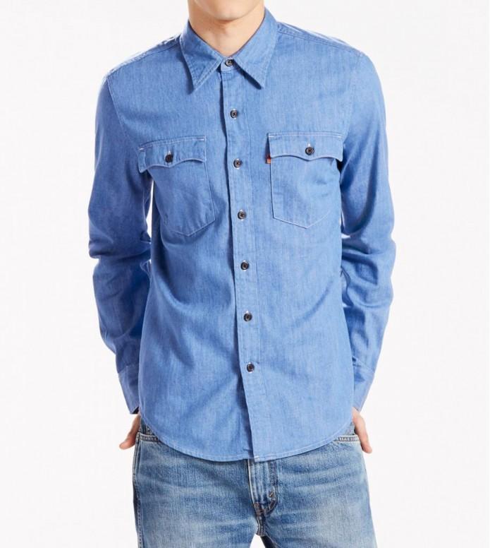 Levis Levis Shirt Orange Tab blue baby denim