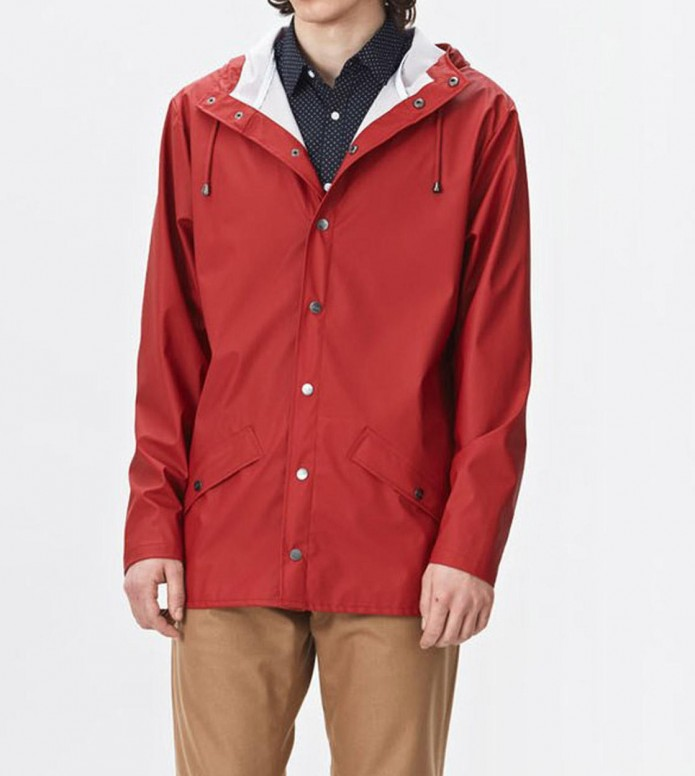 Rains Rains Rainjacket Short red scarlet