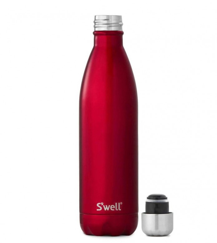 Swell Swell Water Bottle LG red shimmer rowboat