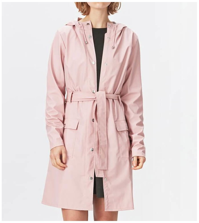 Rains Rains Rainjacket Curve pink rose