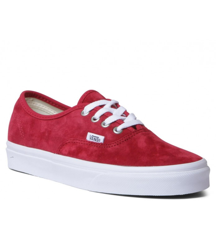 Vans Vans W Shoes Authentic red pig suede scooter/true white
