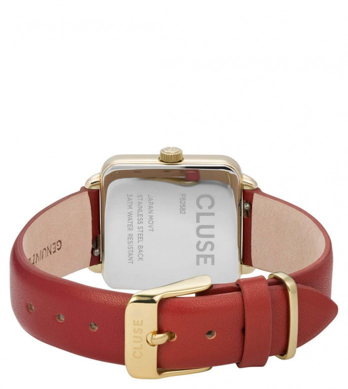 Cluse Cluse Watch La Tetragone red scarlet/gold gold