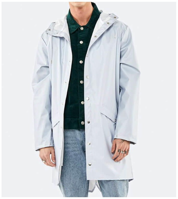 Rains Rains Rainjacket Long silver metallic ice grey