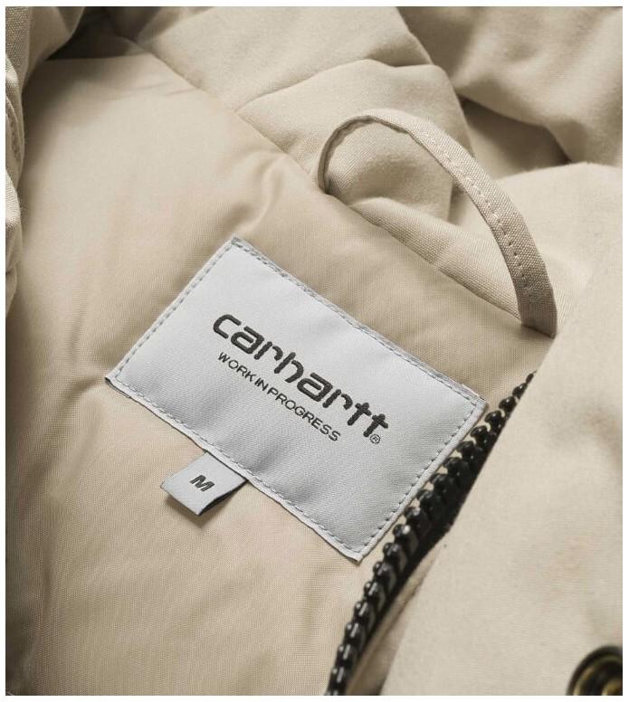 Carhartt WIP Carhartt WIP Winterjacket Tropper Parka beige wall