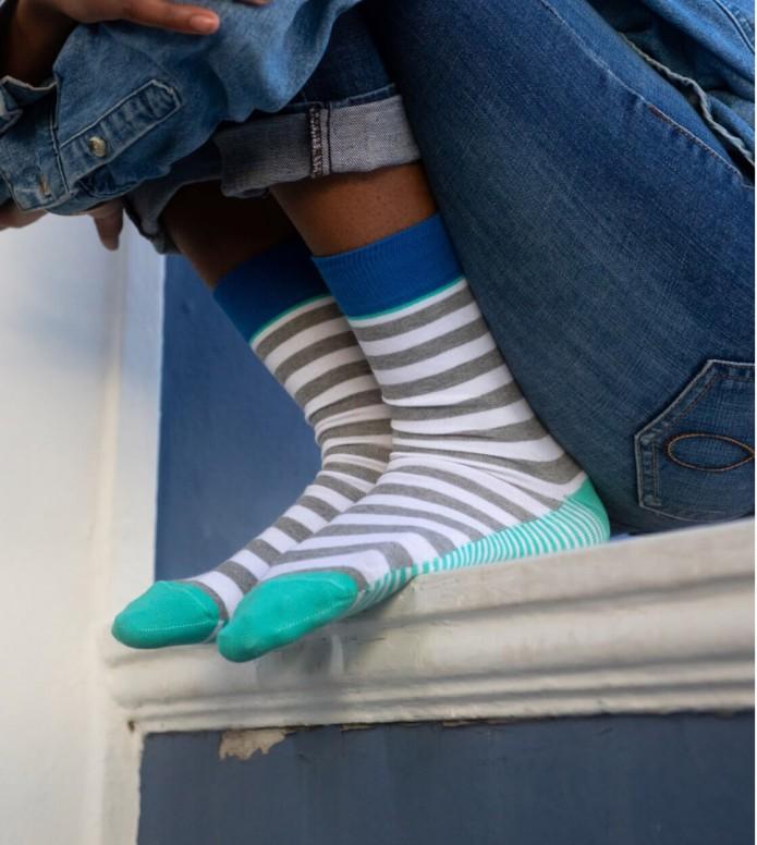 Francis et Son Ami Francis et Son Ami Socks Karelle grey/blue