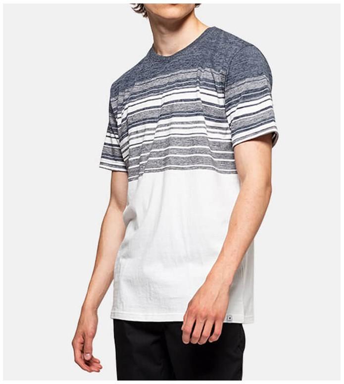 Revolution (RVLT) Revolution T-Shirt 1174 Stripe white navy