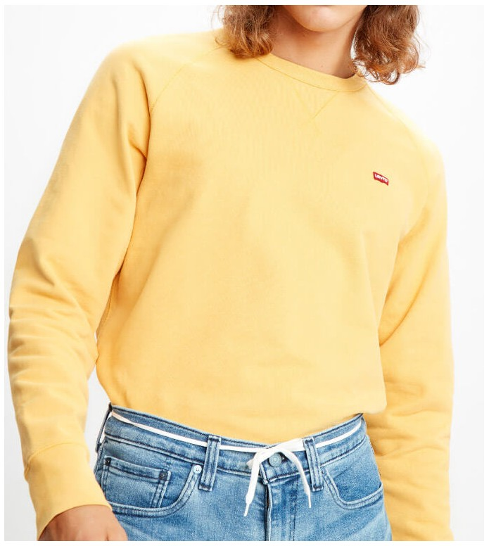 Levis Levis Sweater Original Hm Icon Crew yellow golden apricot