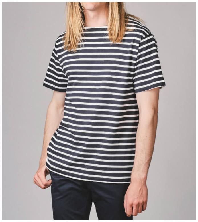 Klitmoller Collective Klitmoller T-Shirt Albert blue navy/cream