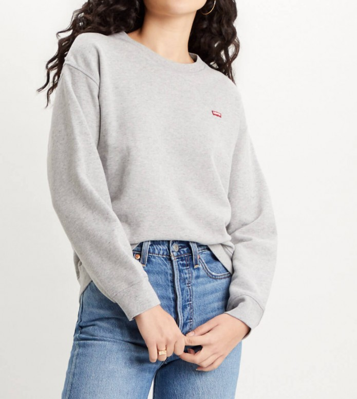 Levis Levis W Sweater Standard Crew grey smokestack heather