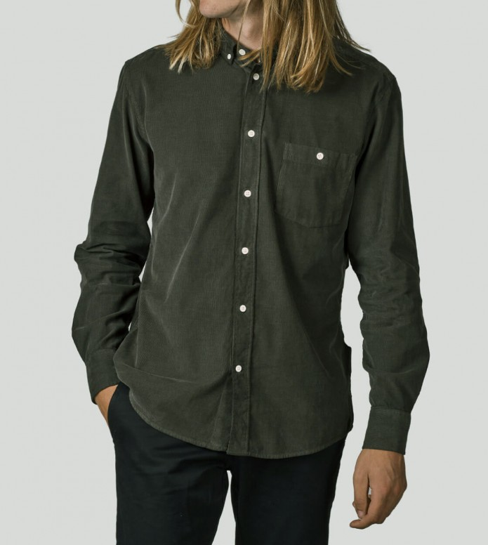 Klitmoller Collective Klitmoller Shirt Benjamin green olive