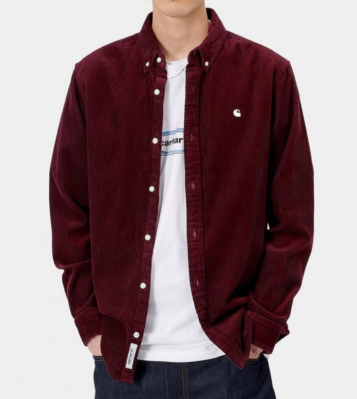 Carhartt WIP Carhartt WIP Shirt Madison red bordeaux wax