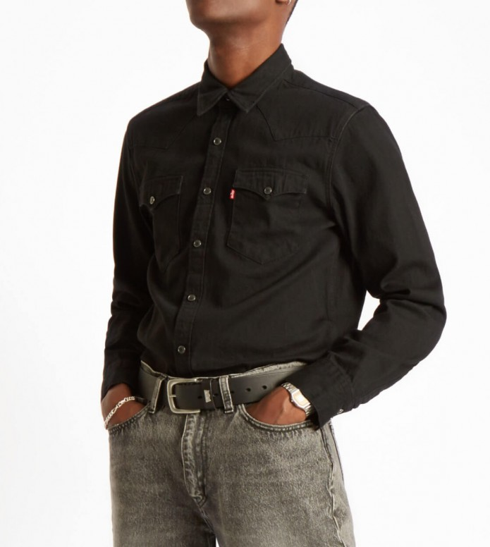 Levis Levis Shirt Barstow Western black marble denim rinse