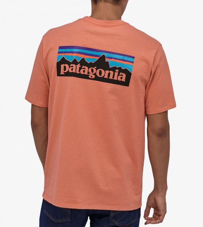 Patagonia Patagonia T-Shirt P-6 Logo Pocket orange melon mellow
