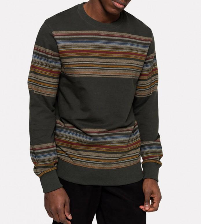 Revolution (RVLT) Revolution Sweater 2653 Striped green army