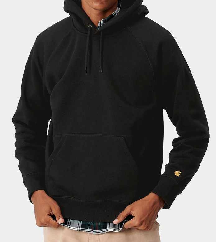 Carhartt WIP Carhartt WIP Hooded Sweater Chase black/gold