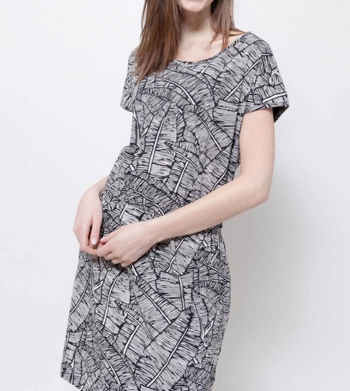 Wemoto Wemoto W Dress Pony Printed black/white
