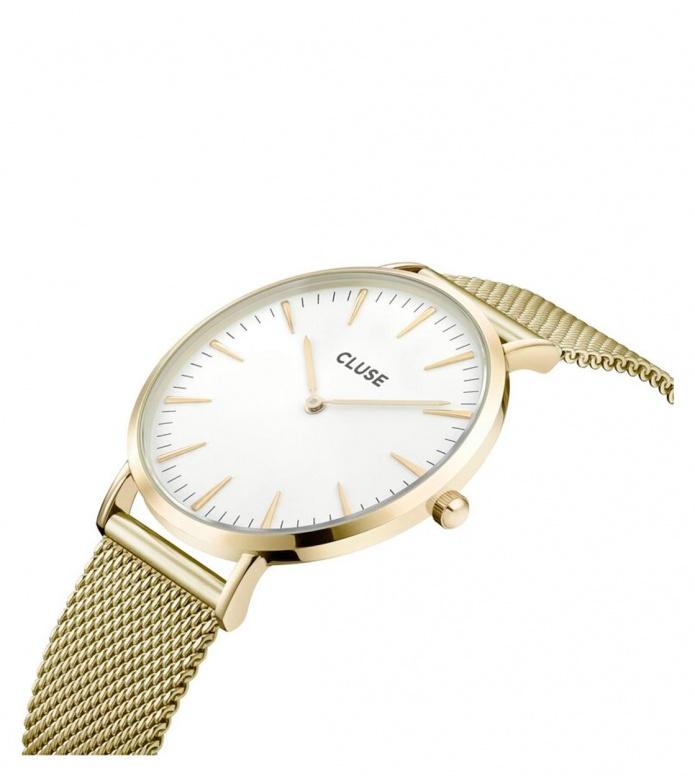 Cluse Cluse Watch La Boheme gold/white mesh