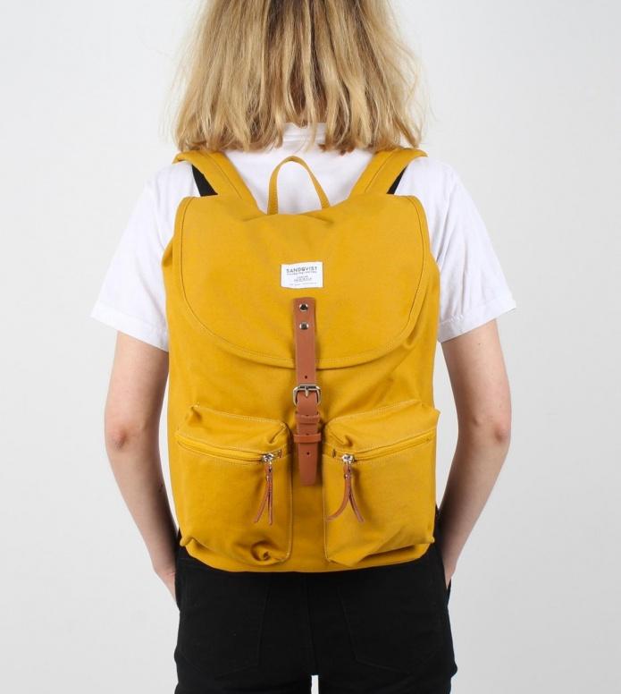 Sandqvist Sandqvist Backpack Roald yellow