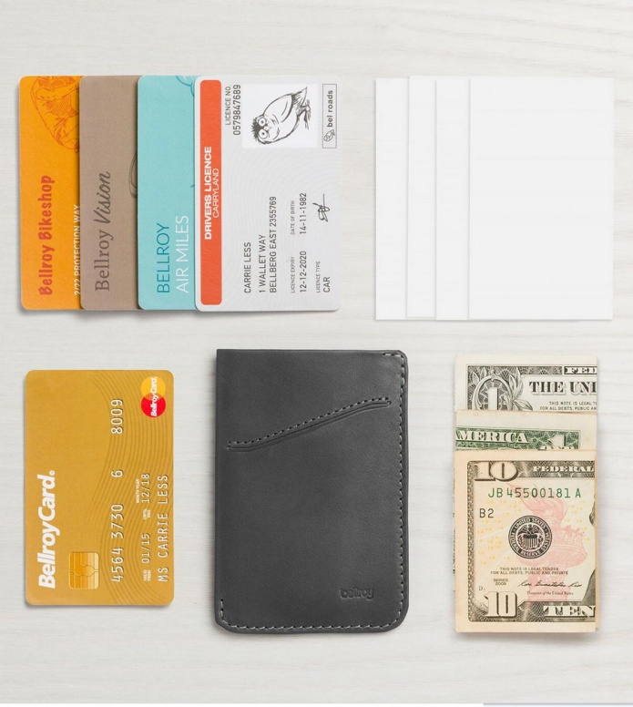Bellroy Bellroy Wallet Card Sleeve grey charcoal