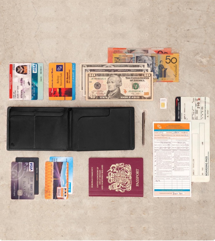 Bellroy Bellroy Wallet Travel RFID black midnight