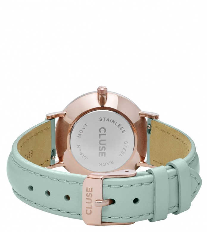 Cluse Cluse Watch Minuit green pastel mint/white rose gold