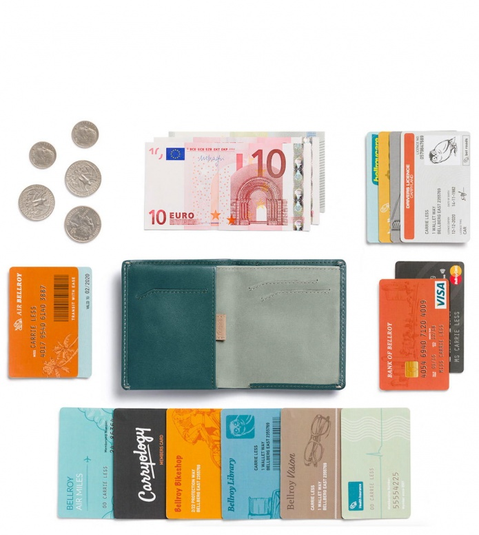 Bellroy Bellroy Wallet Note Sleeve II green teal