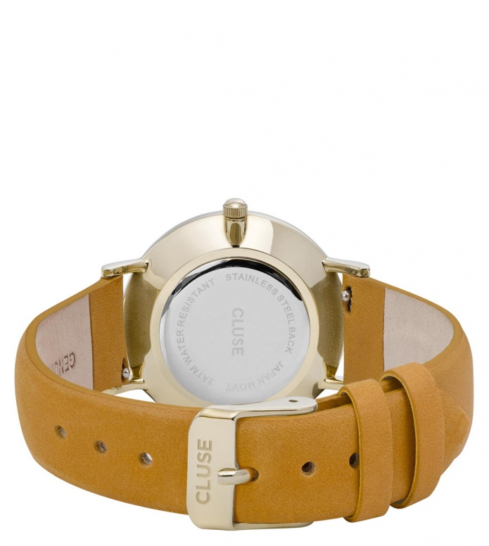 Cluse Cluse Watch Minuit yellow mustard/white gold