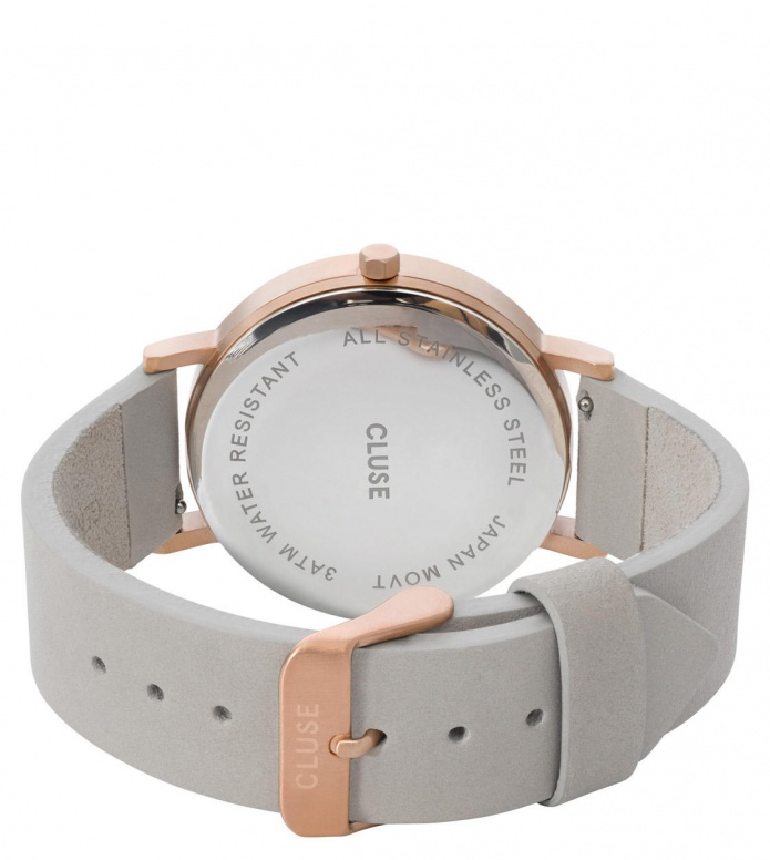 Cluse Cluse Watch La Roche grey/white marble rosegold