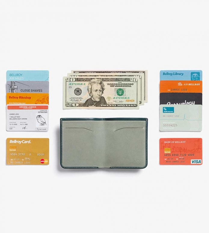 Bellroy Bellroy Wallet High Line green teal