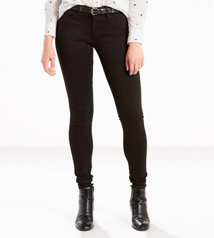 Levis Levis W Jeans 710 Super Skinny black night