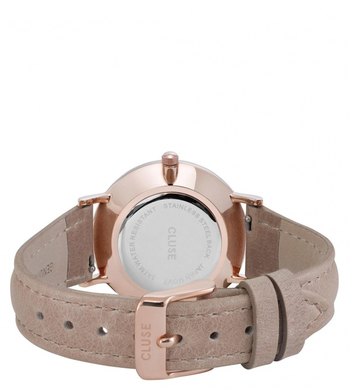 Cluse Cluse Watch Minuit brown hazelnut/white rose gold