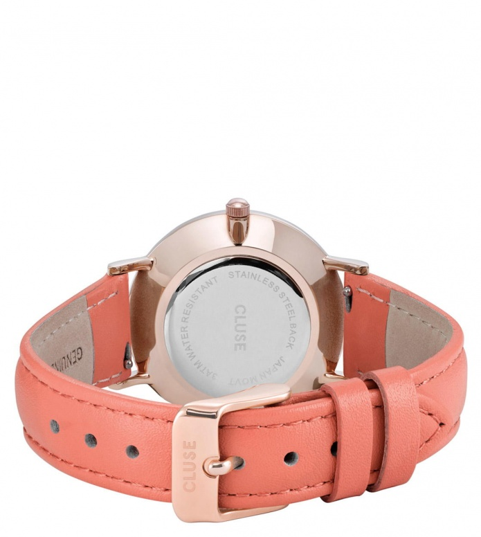 Cluse Cluse Watch Minuit orange flamigo/white rosegold