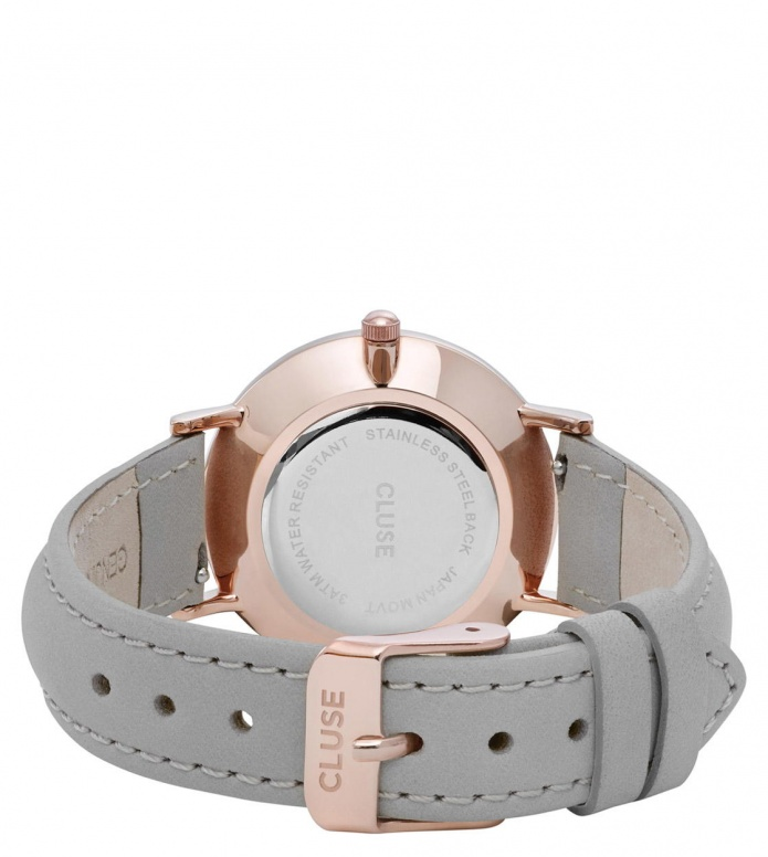 Cluse Cluse Watch Minuit grey/black rose gold