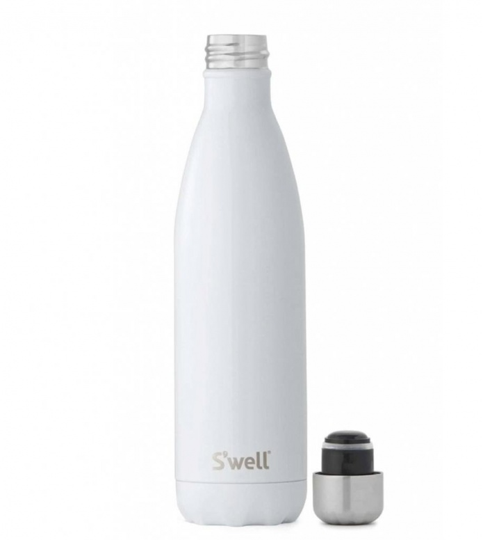 Swell Swell Water Bottle LG white shimmer angel food