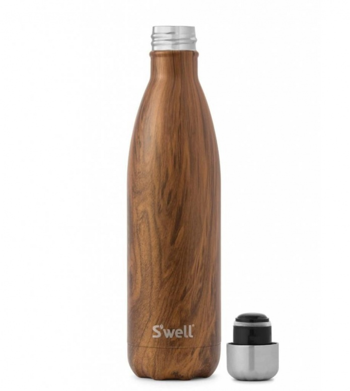 Swell Swell Water Bottle LG brown teakwood